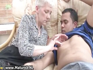 old experienced woman is enjoying part5