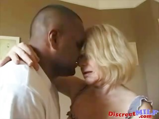 bawdy grandma acquires ghetto darksome cock