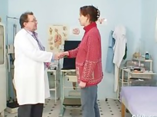 aged dilettante wife at pervy gyno doctor