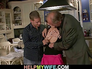 he is fucks old mans juvenile wife