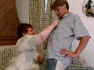 old overweight woman sucking hard in a chaps part9