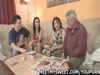 encounter her bf parents ends up threesome