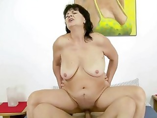 unsightly corpulent grandma fucking with her