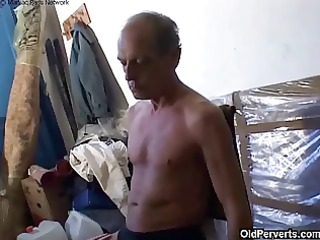 old grand-dad fucking cute blond