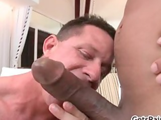 mature muscle guy engulfing dark jock part11
