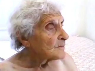unsightly old granny receives drilled